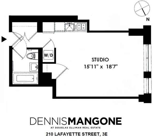 Studio, SoHo Rental in NYC for $4,000 - Photo 1