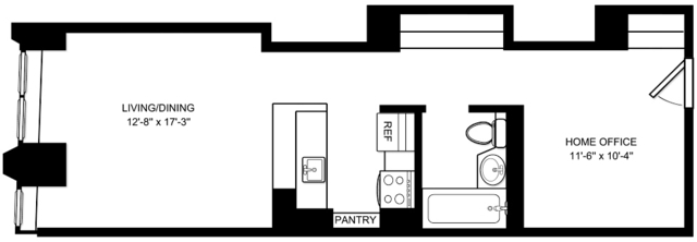Studio, Financial District Rental in NYC for $2,137 - Photo 1