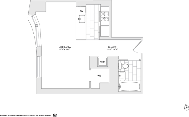 Studio, Financial District Rental in NYC for $3,460 - Photo 1