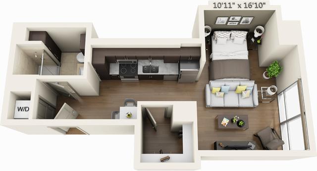 Studio, Seaport District Rental in Boston, MA for $2,394 - Photo 1