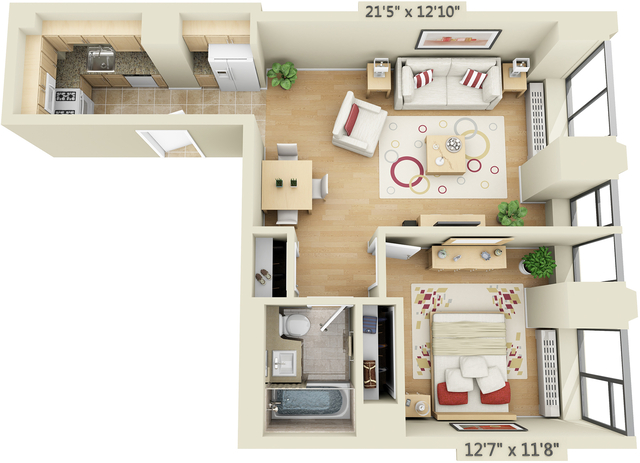 1 Bedroom, Financial District Rental in NYC for $2,818 - Photo 1