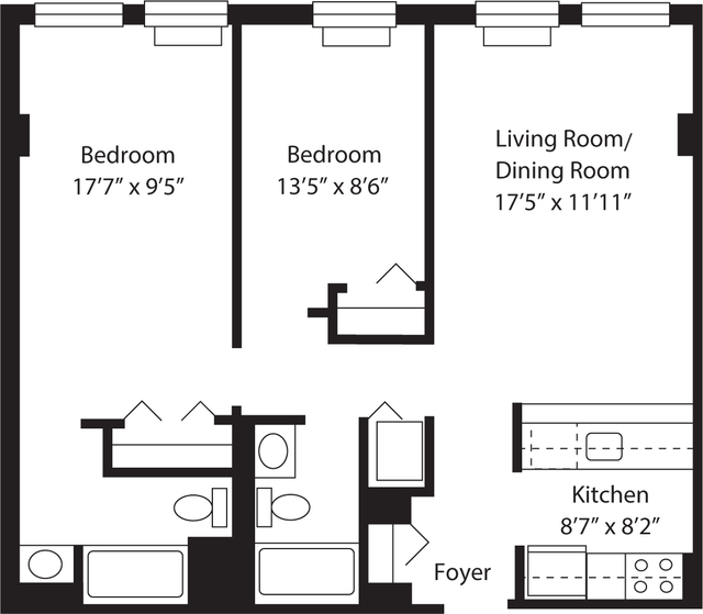 2 Bedrooms, The Waterfront Rental in NYC for $3,096 - Photo 1