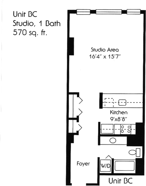 Studio, The Waterfront Rental in NYC for $1,955 - Photo 1