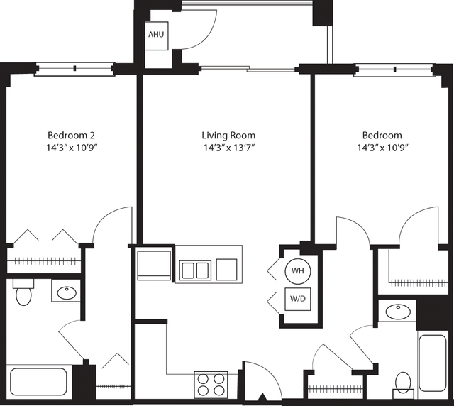 2 Bedrooms, Hudson Rental in NYC for $3,436 - Photo 1