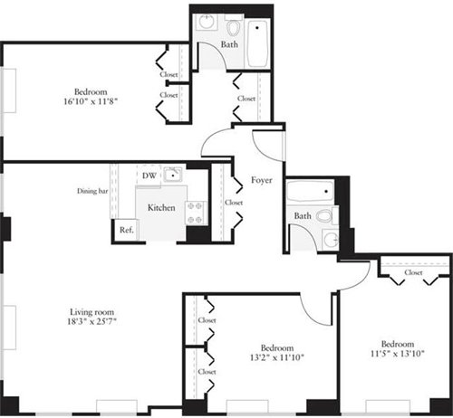 3 Bedrooms, Hudson Rental in NYC for $5,501 - Photo 1