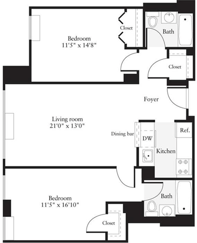 2 Bedrooms, Hudson Rental in NYC for $3,460 - Photo 1