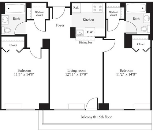 2 Bedrooms, Hudson Rental in NYC for $3,317 - Photo 1