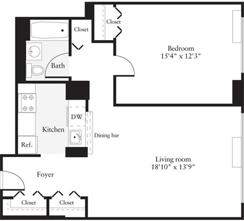 1 Bedroom, Hudson Rental in NYC for $2,695 - Photo 1
