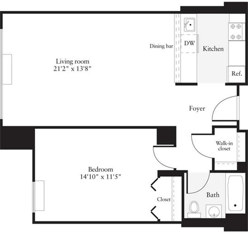 1 Bedroom, Hudson Rental in NYC for $2,772 - Photo 1