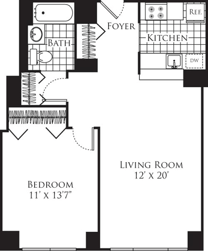 1 Bedroom, Hell's Kitchen Rental in NYC for $3,191 - Photo 1
