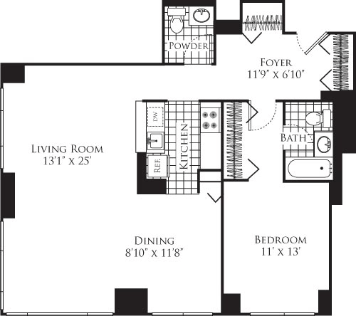 1 Bedroom, Hell's Kitchen Rental in NYC for $3,831 - Photo 1