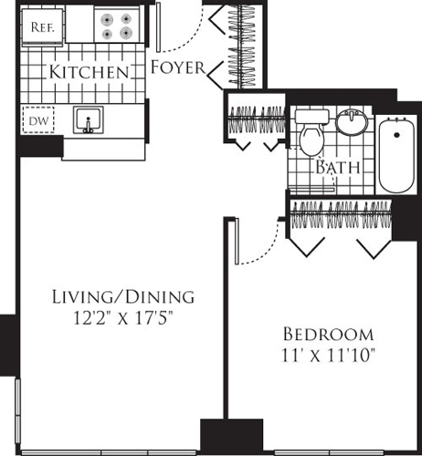 1 Bedroom, Chelsea Rental in NYC for $4,346 - Photo 1