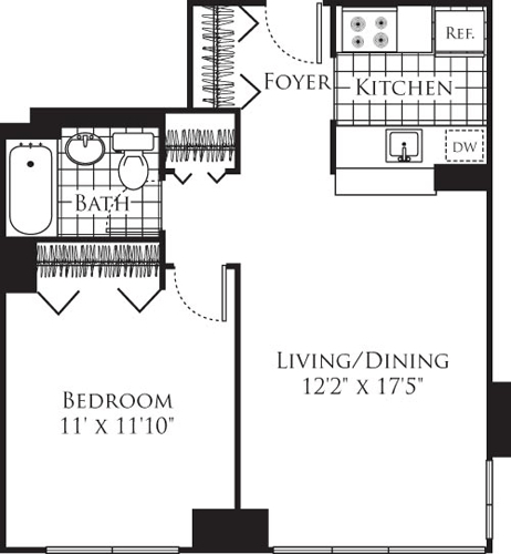 1 Bedroom, Chelsea Rental in NYC for $3,403 - Photo 1