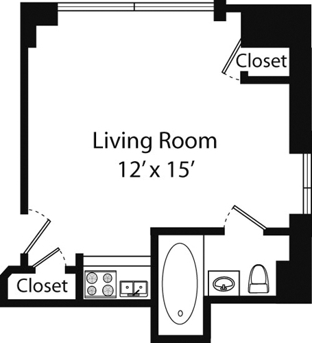 Studio, Upper West Side Rental in NYC for $1,649 - Photo 1