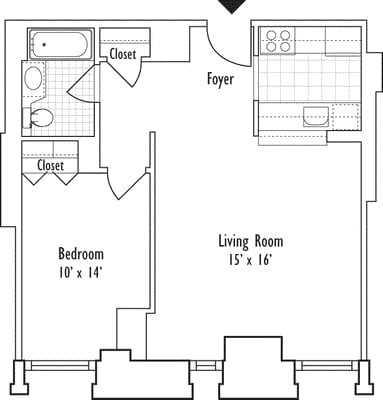 1 Bedroom, Financial District Rental in NYC for $3,906 - Photo 1