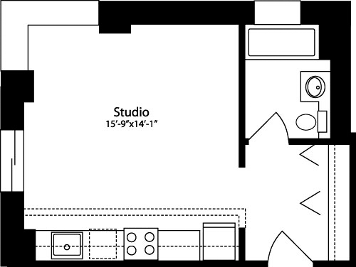 Studio, Hell's Kitchen Rental in NYC for $2,207 - Photo 1