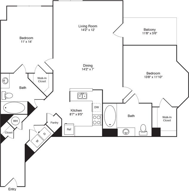 2 Bedrooms, Hudson Rental in NYC for $3,259 - Photo 1