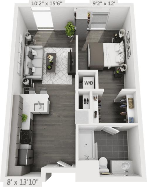 1 Bedroom, Golden Triangle Rental in Denver, CO for $2,030 - Photo 1