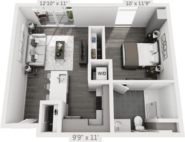 1 Bedroom, Golden Triangle Rental in Denver, CO for $2,005 - Photo 1