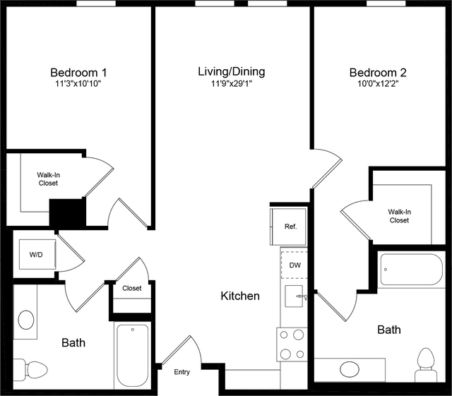2 Bedrooms, China Basin Rental in San Francisco Bay Area, CA for $4,015 - Photo 1