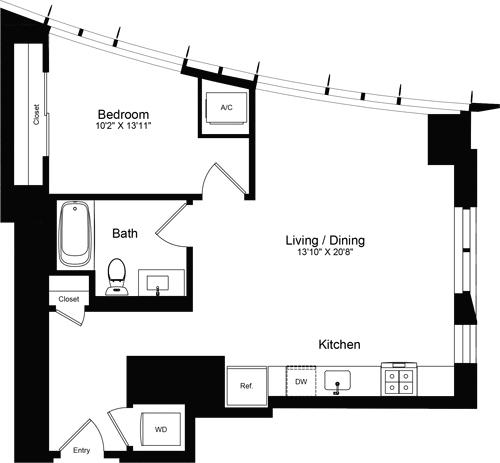 1 Bedroom, Rincon Hill Rental in San Francisco Bay Area, CA for $3,879 - Photo 1