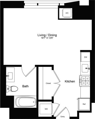 Studio, Rincon Hill Rental in San Francisco Bay Area, CA for $3,090 - Photo 1