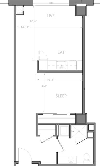 Studio, D Street - West Broadway Rental in Boston, MA for $3,115 - Photo 1