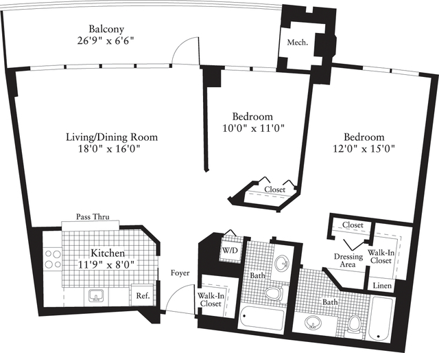 2 Bedrooms, Crystal City Shops Rental in Washington, DC for $2,376 - Photo 1