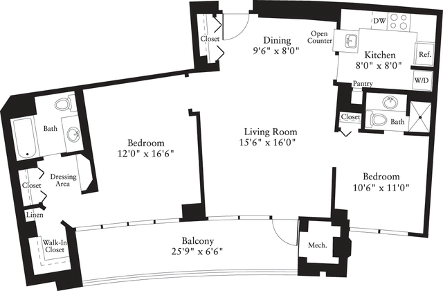 2 Bedrooms, Crystal City Shops Rental in Washington, DC for $2,287 - Photo 1