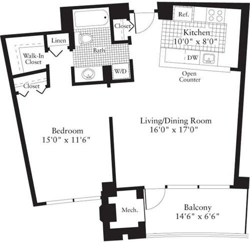 1 Bedroom, Crystal City Shops Rental in Washington, DC for $1,837 - Photo 1