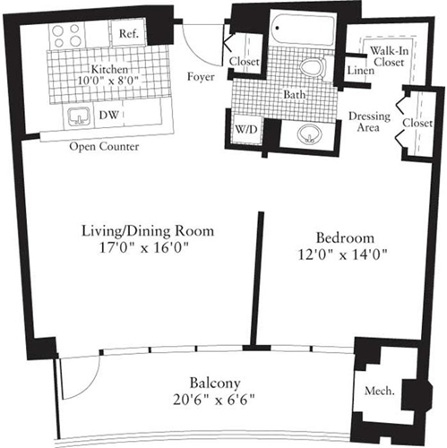 1 Bedroom, Crystal City Shops Rental in Washington, DC for $1,777 - Photo 1