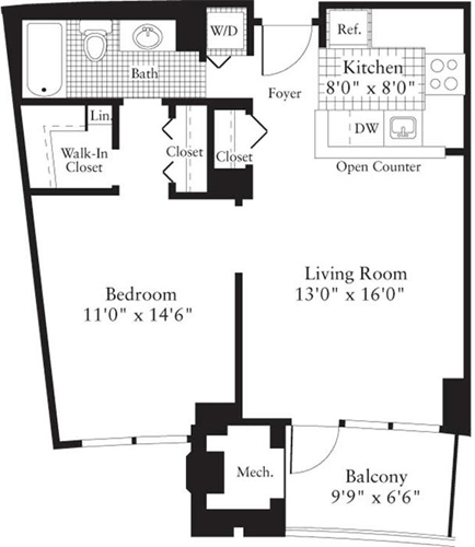 1 Bedroom, Crystal City Shops Rental in Washington, DC for $1,739 - Photo 1