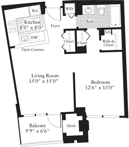 1 Bedroom, Crystal City Shops Rental in Washington, DC for $1,708 - Photo 1