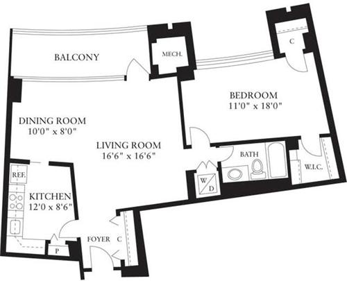 1 Bedroom, Crystal City Shops Rental in Washington, DC for $1,691 - Photo 1