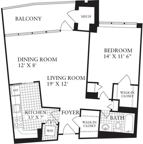 1 Bedroom, Crystal City Shops Rental in Washington, DC for $1,700 - Photo 1