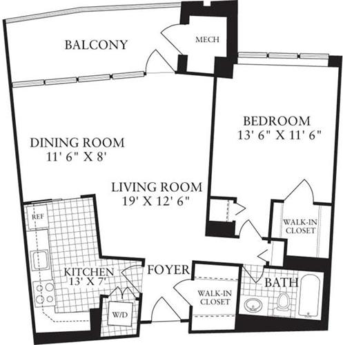 1 Bedroom, Crystal City Shops Rental in Washington, DC for $1,827 - Photo 1