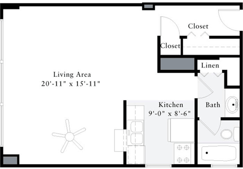 Studio, Dupont Circle Rental in Washington, DC for $1,584 - Photo 1