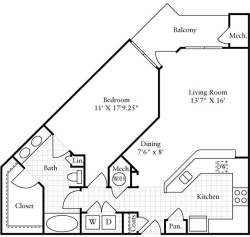 1 Bedroom, Montgomery Rental in Washington, DC for $1,783 - Photo 1
