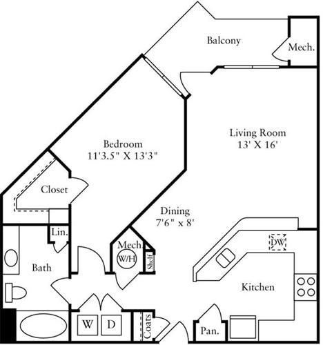 1 Bedroom, Montgomery Rental in Washington, DC for $1,735 - Photo 1