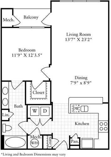 1 Bedroom, Montgomery Rental in Washington, DC for $1,601 - Photo 1