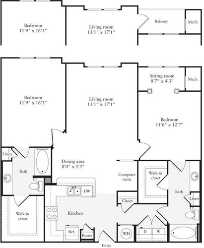 2 Bedrooms, East Rockville Rental in Washington, DC for $2,466 - Photo 1