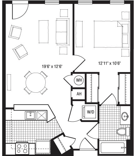 1 Bedroom, Lyon Village Rental in Washington, DC for $2,257 - Photo 1