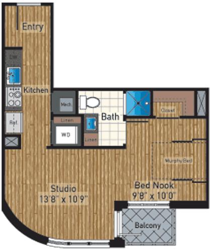 Studio, Mount Vernon Square Rental in Baltimore, MD for $2,292 - Photo 1