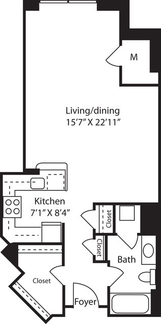 Studio, Radnor - Fort Myer Heights Rental in Washington, DC for $1,659 - Photo 1