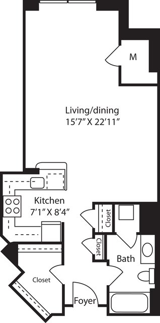 Studio, Radnor - Fort Myer Heights Rental in Washington, DC for $1,714 - Photo 1