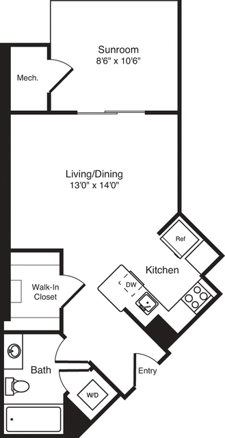 Studio, Radnor - Fort Myer Heights Rental in Washington, DC for $1,505 - Photo 1