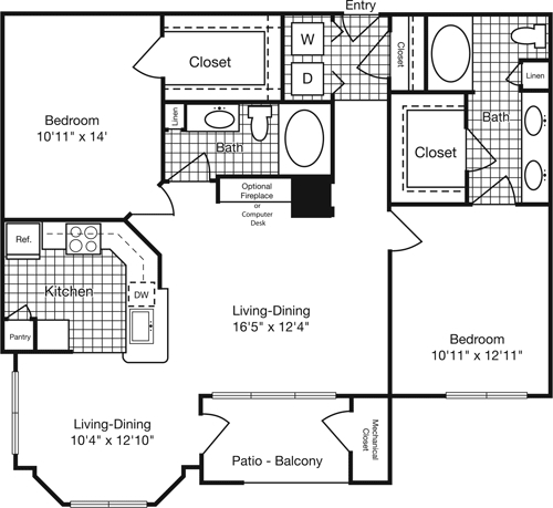 2 Bedrooms, Reserve at Potomac Yard North Rental in Washington, DC for $2,344 - Photo 1