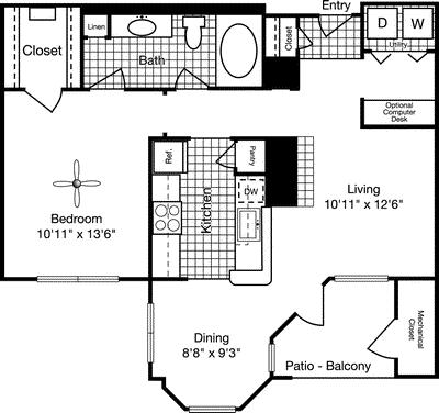 1 Bedroom, Reserve at Potomac Yard North Rental in Washington, DC for $1,812 - Photo 1