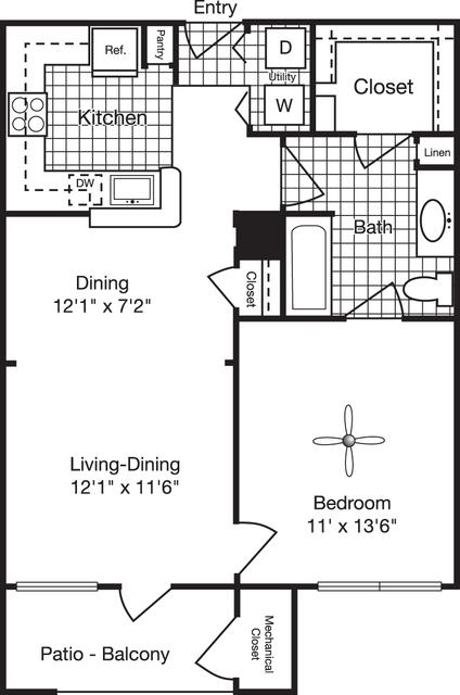1 Bedroom, Reserve at Potomac Yard North Rental in Washington, DC for $1,744 - Photo 1