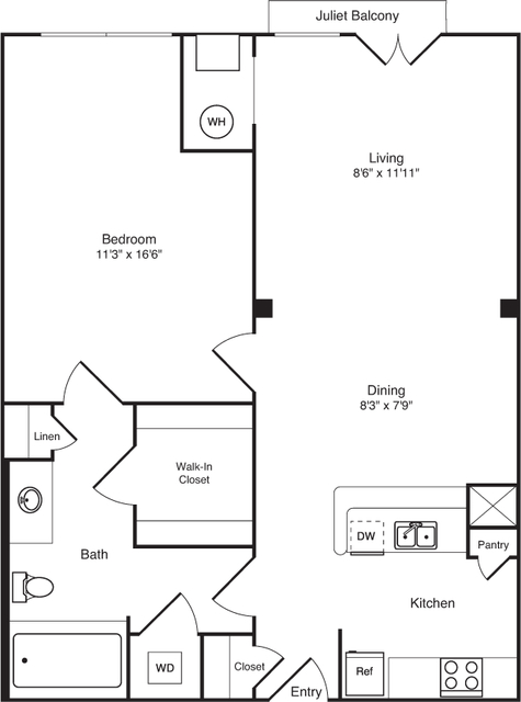 1 Bedroom, Eisenhower East - Carlyle District Rental in Washington, DC for $2,039 - Photo 1